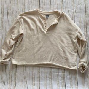 Aerie cropped sweatshirt henley